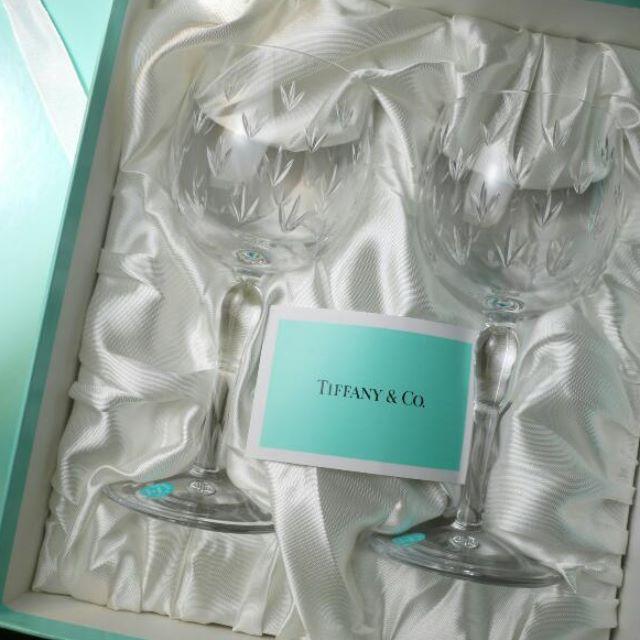 Tiffany 刻花水晶杯,紅酒杯