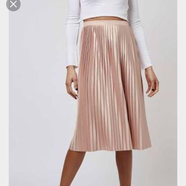 Top Shop Pleat Midi Skirt