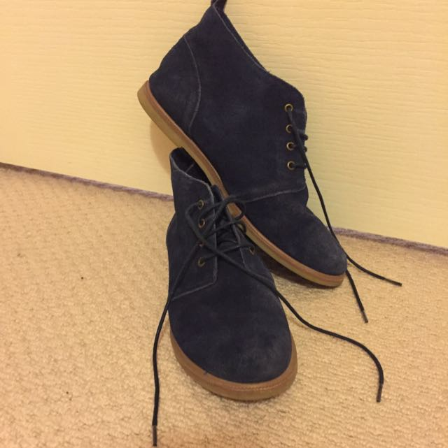 Topshop Blue Suede Boots