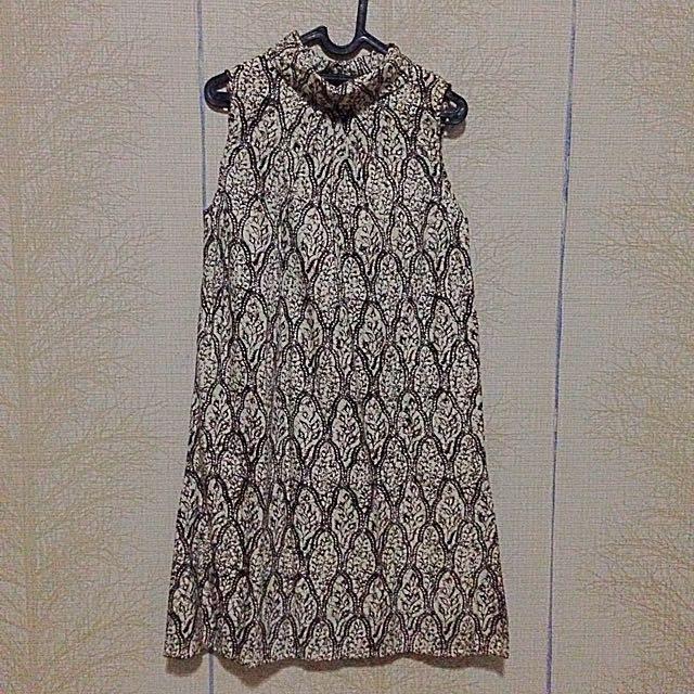 Turtle Neck Batik Dress
