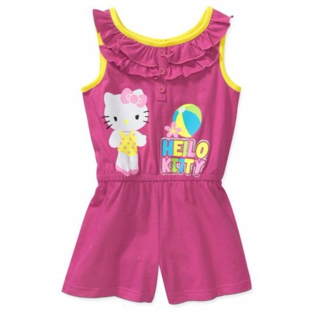 07322b121 U.S.-imported Hello Kitty Baby Girls' Ruffle Scoop Neck Romper (size ...