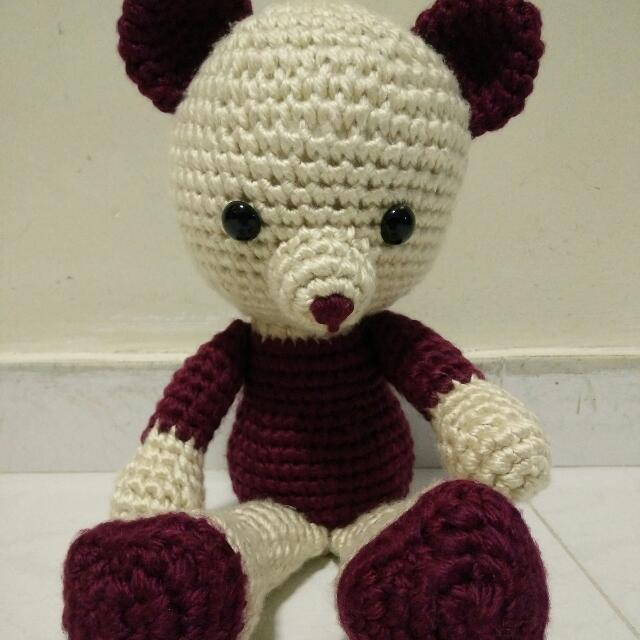 Valentine's Teddy Bear crochet PATTERN: Amigurumi Bear + pattern ... | 640x640