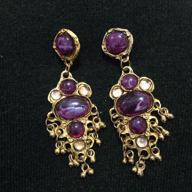 Vintage古董夾式耳環