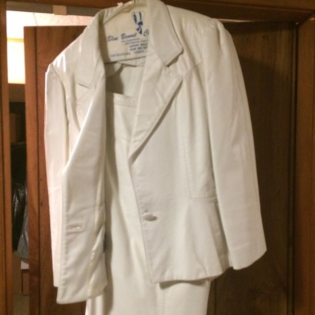 White Leather Business Suit