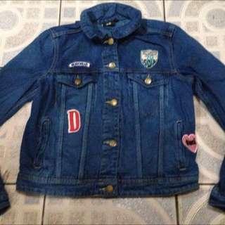 H&M Patched Denim Jacket