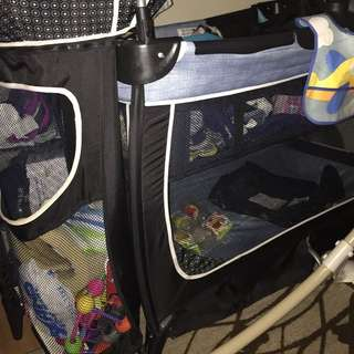 Baby Bed And Diapers Changed