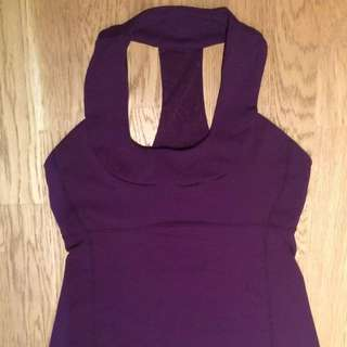 Lululemon Purple Scoop Neck Tank Size 6