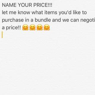 SELLING IN BUNDLES FOR A GOOD DEAL !!!