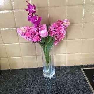 Fake Flowers + Vase