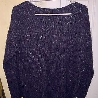 Black Sparkly scoop neck long sleeve shirt