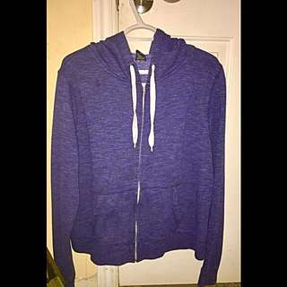 Blue Oversized Zip up hoodie sweatshirt