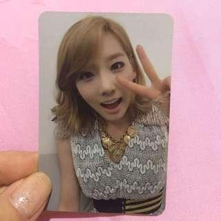 taeyeon snsd mr taxi photocard girls generation