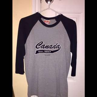 Canada est printed half sleeved shirt