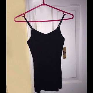 Women's black spaghetti strap top