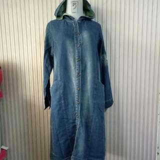 Mini dress Jeans Hoody