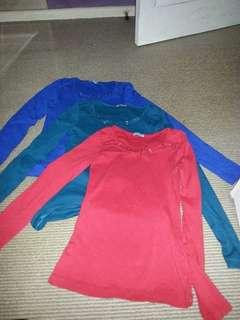 kookai long sleeve tops bundle