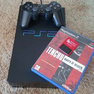 Ps2 With Tenchu Wrath Of Heaven