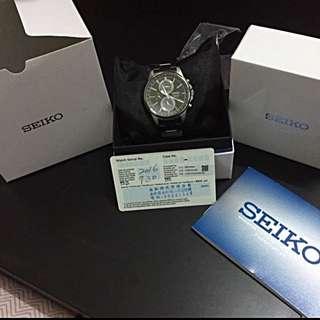 保證日本原裝 made in Japan   SEIKO SPIRIT 萬年曆多功能計時腕錶(SBPJ005J)