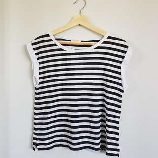 Paint It Red Striped Tee