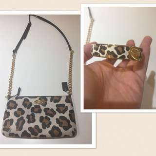 Coach 100% Authentic Cross Body And Matching Cuff Bracelet