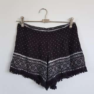 Tribal Black Shorts