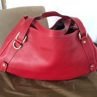Authentic Gucci Abbey Leather Tote Bag