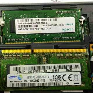 1 x 4Gb DDR3 1600MHz Laptop RAM