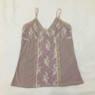 Lilac Lace Camisole Top