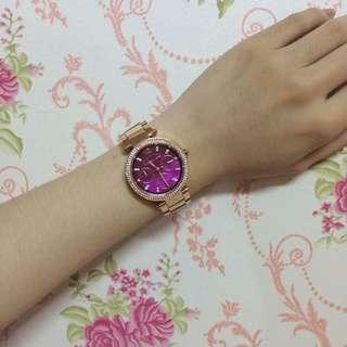 MK玫瑰金手錶