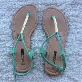 Blue/Mint Sandals Size 8