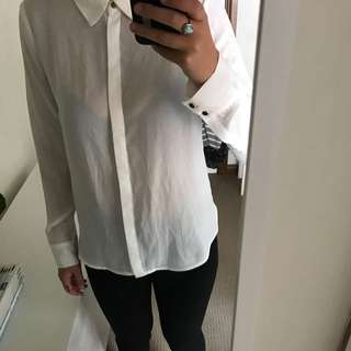 Portmans White Shirt Size 8