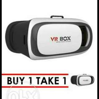 VR BOX V-13 Goggles Virtual Reality 3D Glasses For IPhone Android Universal (White/Black)