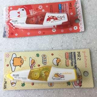日本授權正版 美樂蒂 蛋黃哥 修正帶 Plus M2