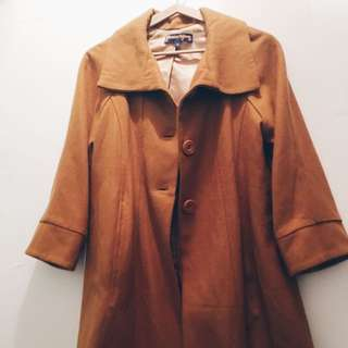 Dangerfield Mustard pea Coat Size 8