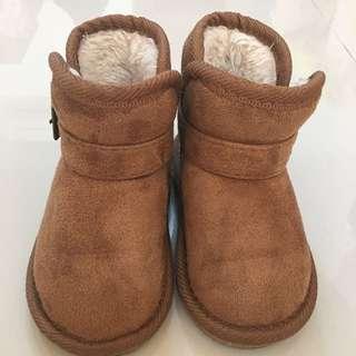 {小童}二手雪靴 棕色 16cm