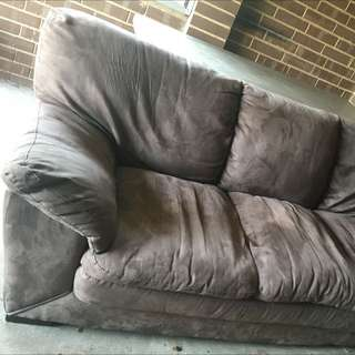 Suede sofa 3 seater