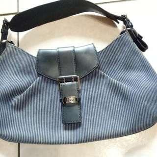 Dior 馬鞍型肩背包-深藍