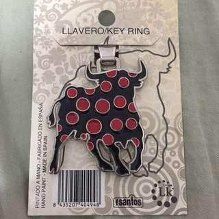 西班牙鬥牛造型鑰匙圈