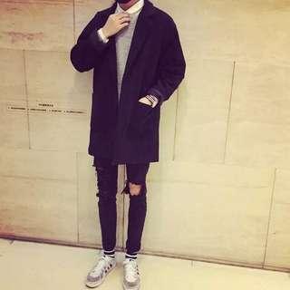韓版修身款大衣