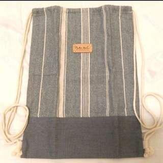 mouton blan C束口袋背包