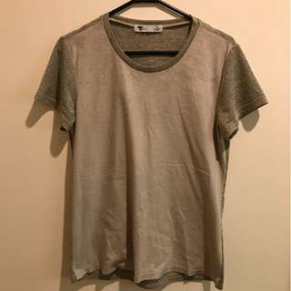 Faux Suede Taupe Shirt