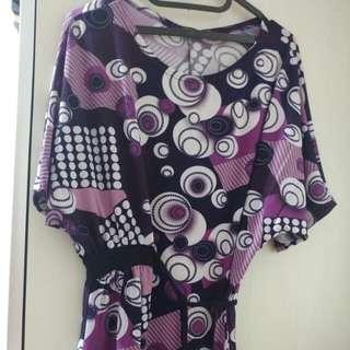 Atasan Ungu (Semi Mini Dress)