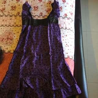 Ribbon Purple Dress