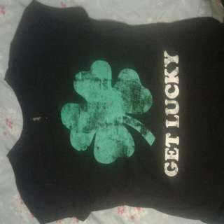 Get Lucky Top. Size 16. Black.