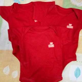 Jumper Merah Polos (3pcs)