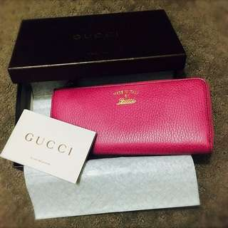 Gucci Dollar Calf Zip Wallet