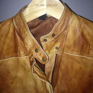 Riders Lee Vintage Leather Jacket Size 12)
