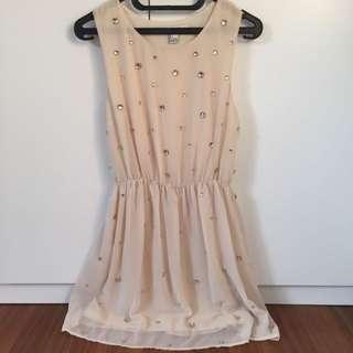 Forever 21 OFF WHITE Beaded Dress