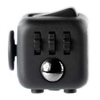 Fidget Cube Stress Relief Toy Adults Children 6+ Focus For ADHD AUTISM Anxiety-ALL BLACK