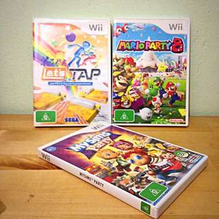 Wii Games: Mario Party 8, Let's Tap, My Sims Party
